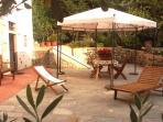 Mugnaia's private patio