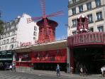 5 mn walk away the famous MOULIN ROUGE
