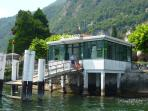The ferry station at Moltrasio, 5 minutes walk away