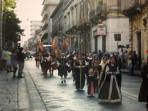 Parade on street