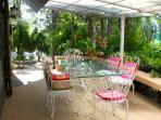 dinning area on the veranda