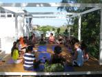 Iideal for Retreats - Students on the Deck