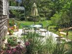 Outdoor dining and grill on the private deck, The Cherry Suite, Cottage Guest, Eastham, MA, Cape Cod