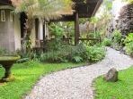 Garden path to villa entrance