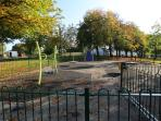 Children`s enclosed play park close by