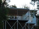 house exterior, evening