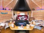 BBQ cabin inside