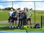 Guests trained by international coach Gilles de Gouy at Manor's tennis court, full tennis acces
