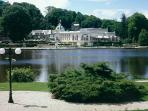 Spa town of Bagnoles De L'orne, this is the Casino with restaurant, theatre, park and lake.