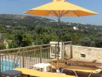 Helidonia Villas-Crete, villa STEFANOS / patio with sunbeds at pool