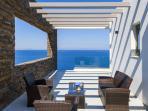 Luxury villa near Chania in Crete, Greece. Second terrace