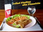 From our Swiss Ticino Menu - rolled Piadina