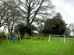 Younger visitors love the swings and football goals