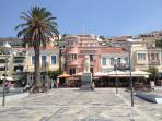 Samos Town sqaure - ten minutes walk from the house
