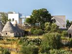 panoramic view on trulli and lamia