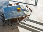 concrete table al-fresco