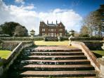 Views of Staffield Hall Country Retreats from the gardens