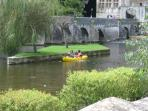 Canoeing at Brantome