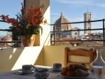 Enjoy al fresco dining with a magnificent view