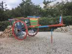 Algarvian donkey cart - at the side of the studio