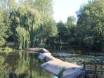 Weir near the Moulin Perrin on the River Benaize
