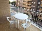 Balcony, views to the tennis courts