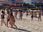 Volley ball at the beach