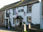 'The Three Greygrounds', our local pub in Great Asby