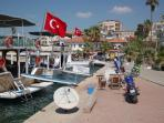Gulluk harbour is close and can be reached by the frequent minibus service