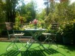 Roof terrace garden at Little Roost - access via stone steps side of house.
