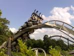 Alton Towers is a 20 minute drive from the barn.