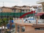 Main pool and fun slides