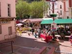 Market in Amelie les Bains 10 minutes drive