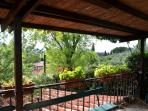 terrace with roof  panoramic view
