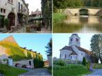 Le Village de Montambert, Bourbon Lancy et Le canal du Nivernais et la Loire à 4 kms