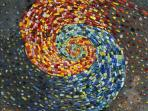 spiral of made by mosaic