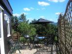 Patio area at Owl,s Hoot , Sit and enjoy the views with a glass of wine