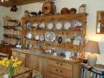 Country kitchen with antique pine dresser