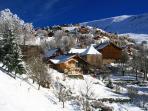 La Source and the upper village of Villard Reculas