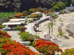 Aerial view of the promenade of Playa San Juan