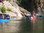 Only 10min from us you find great places to have a bath or enjoy a canoe ride.