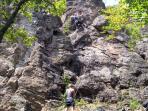 Climbing Rocks at Cisnadioara - Sibiu, Transylvania, Romania