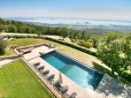 The pool with stunning unbroken views of Lake Trasimeno