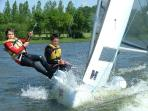 Sailing on the lake - sailing school