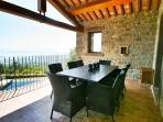 Luxury Casa Padrone: Outside dining off dining room