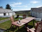 Have a relaxing cup of coffee outside at High Clachanand take in the beautiful rural views