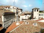 View of  Palazzo Spada and Palazzo Franese  from the Bed Room