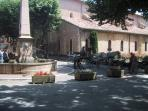 Aups main square & fountain