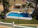 Swimming pool from the balcony