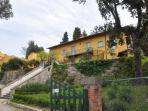 The facade, Villa di Campilungo Agriturismo, Fiesole, Tuscany
